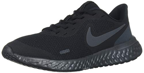 NIKE Revolution 5 (GS), Zapatillas, Negro (Black White Anthracite), 37.5 EU
