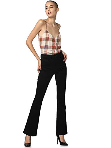 Only Onlroyal High Sweet Flared 600 Jeans a Zampa, Nero (Black Black), W25/L32 (Taglia Produttore: X-Small) Donna