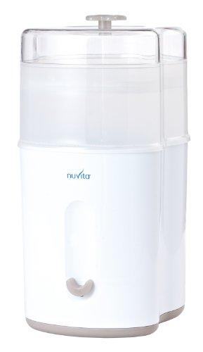 Sin BPA Nuvita STERIEASY 1083 Esterilizador Biberon a Vapor El/éctrico Bandeja Acero Inoxidable F/ácil de Limpiar Marca Europea Hasta 6 Biberones en Solo 6 Minutos