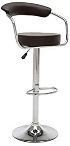 in plastica acciaio e crema Kangaro K-2BD-439-CR 54 x 47 x 46 cm Set di 2 sgabelli da bar Cube
