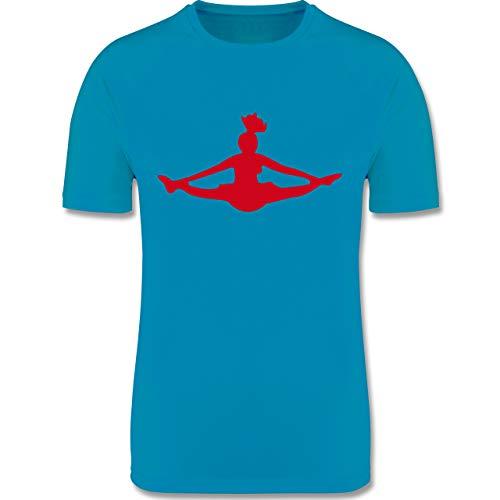Sport Kind - Cheerleading - 152 (12/13 Jahre) - Himmelblau - sportkleidung Kinder - F350K - atmungsaktives Laufshirt/Funktionsshirt für Mädchen und Jungen