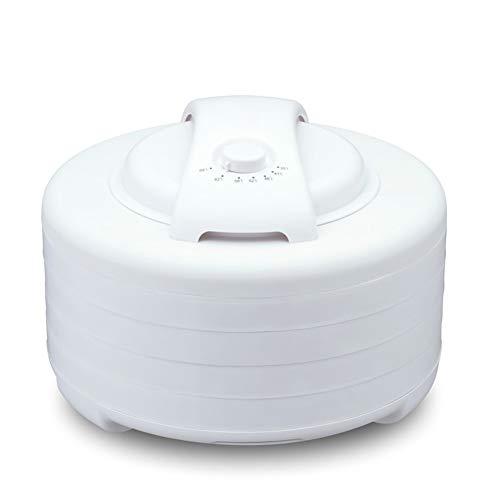 QAQ Secador De Aire Deshidratador De Aire Plástico Orgánico 4 Capas De Ajuste De Altura Máquina De Fruta Seca,White,OneSize