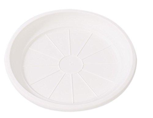 Hobby & Style 5771.0 Soucoupe pour Pot rotin, Blanc, 20 x 20 x 2,5 cm