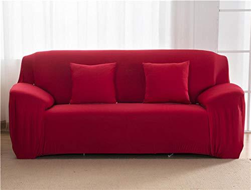 Allenger Funda De Sofá Elastica,Funda De Sofá Elástica De Color Sólido Protector De Silla De Esquina De Spandex Living Room-Red_190-230Cm_China