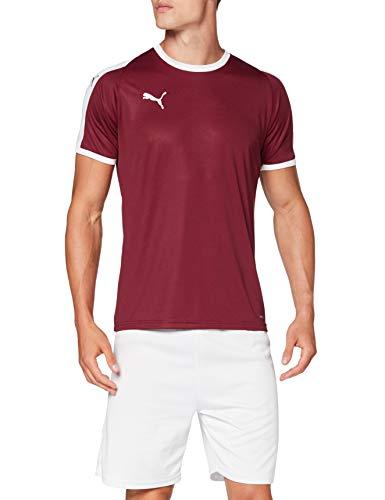 PUMA Liga Jersey Camiseta, Hombre, Cordovan/White, 3XL