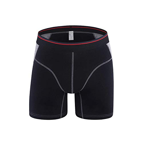 HaiDean Mannen Onderbroek Katoen Retropants Casual Boxer Shorts Moderne Lange Been Shorts Korte Mouw Elastische Comfortabele Zachte Boxer Shorts