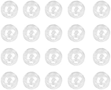 EXCEART 100 Piezas de Cuentas de Cuarzo Bolas de Cristal Transparente Mini Globo de Cristal Cristales Curativos Cuentas Sueltas para La Fabricación de Pulseras Y Joyas (25Mm)
