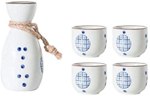 Juego de tazas de sake japonesas con diseño tradicional en oro porcelana cerámica copas de vino de cerámica A14