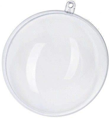 Lot DE 20 Pieces Boule Transparente à remplir en Plastique Décoration Suspension pour Noël Sapin Pâque Anniversaire Mariage Ornements Décoratifs pour Chambre Enfant Boule de Bain (8cm)