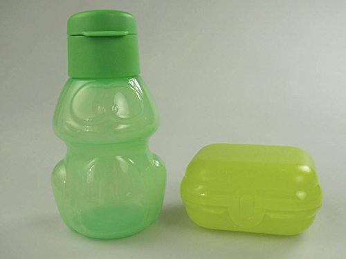 TUPPERWARE To Go Mini-Twin limette Gr.1+ Eco Trinkflasche 350 ml Frosch grün Kinder P 22021