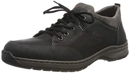 Rieker Herren 3360 Schuhe, Schwarz (Schwarz/Schwarz/Rauch 00), 43 EU