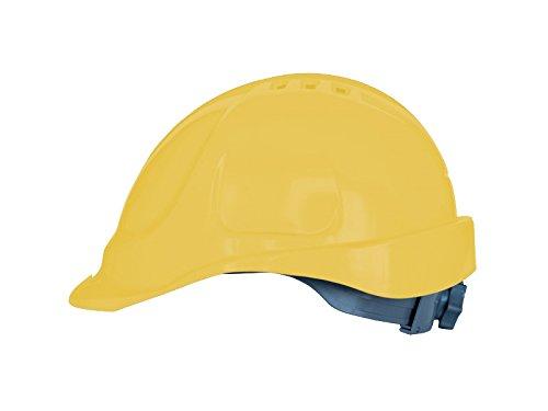 Casco de protección con cinta de sujeción, tamaño ajustable, EN397, color amarillo
