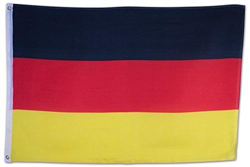 SCAMODA Bundes- und Länderflagge aus wetterfestem Material mit Metallösen (Deutschland) 150x90cm