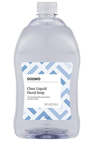 Price comparison product image Amazon Brand - Solimo Gentle & Mild Clear Liquid Hand Soap Refill,  Triclosan-free,  56 Fluid Ounces,  Pack of 1