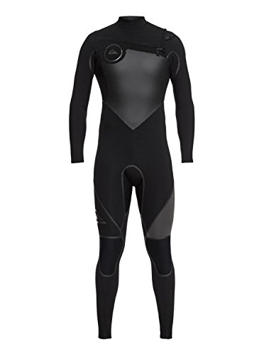 Quiksilver Mens 3/2Mm Syncro Plus - Chest Zip Wetsuit for Men Chest Zip Wetsuit Black L