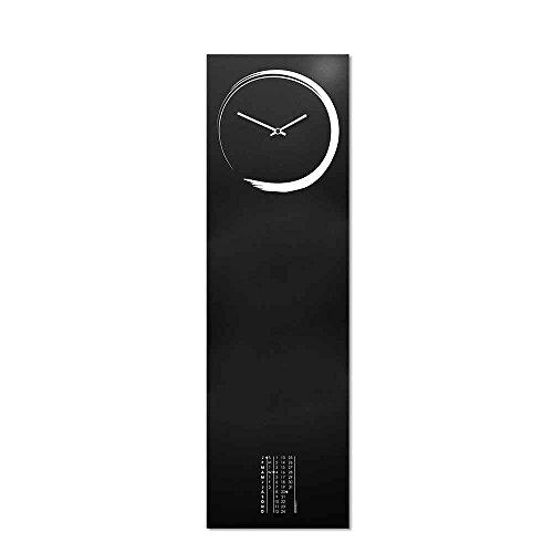 orologio da parete zen Designobject Orologio da Parete Lavagna Magnetica Metallo Nero Calendario Perpetuo Stile Zen Orientale