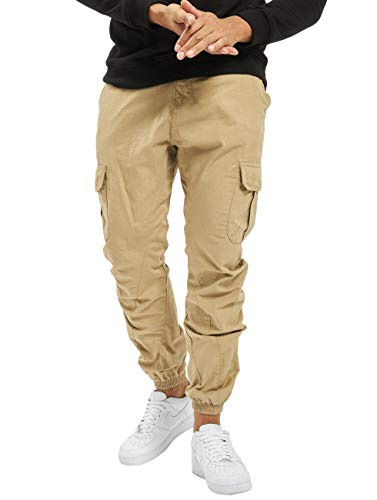 Urban Classics Herren Ripstop Cargo Jogging Pants Hose, Beige (Beige 00003), W(Herstellergröße: 4XL)