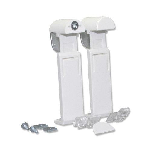 INTERDECO Plissee Glasfalz-Klemmträger für Plissees System Decomatic in Weiß (2 Stück)
