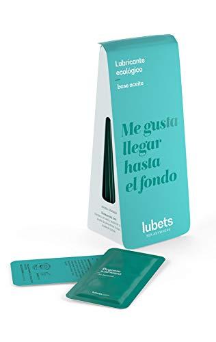 LUBETS · Lubricante Base de Aceite Ideal también para Masajes, Ecológico y en formato Monodosis (10uds x 5ml)