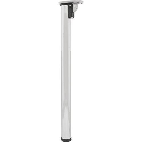 Secotec supporto da tavolo pieghevole Diametro 50, lunghezza 705mm cromato, in confezione blister, 1pezzi,323331/1