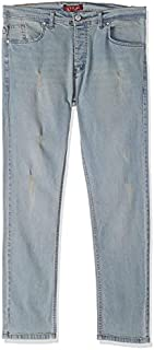 For All Jeans Side-Pocket Distressed Slim Fit Jeans for Men