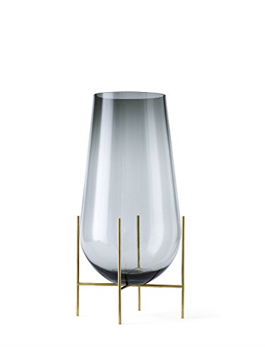 Menu - Echasse Vase - rauchglas - L - Theresa Arns