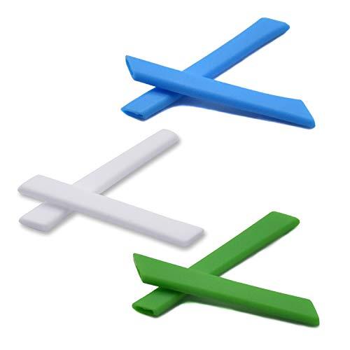 SOODASE Blau/Weiß/Grün Ersatz Silikon Rahmenbein Gummi-Kit Für Oakley Jawbone Sonnenbrille