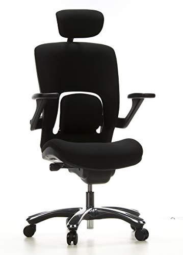Bürostuhl/Drehstuhl VAPOR LUX Stoff schwarz