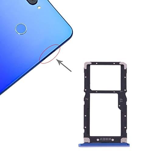 Yihui - Bandeja de repuesto para tarjetas SIM + tarjeta SIM / tarjeta micro SD para Xiaomi Mi 8 Lite (azul) Reparación de piezas