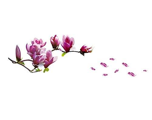 HALLOBO® XXL Wandtattoo Magnolie Blumen Magnolia Wandaufkleber Wandsticker Wall Sticker Wohnzimmer Schlafzimmer Deko