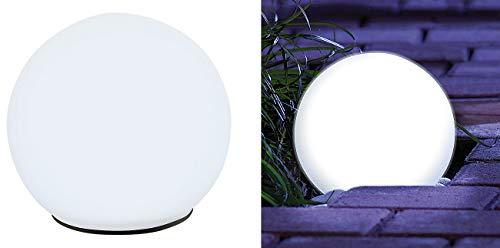 Lunartec LED Solarkugel: Solar-Glas-Leuchtkugel mit LEDs & Dämmerungsautomatik, Ø 9 cm (Leuchtkugeln Garten Solar)