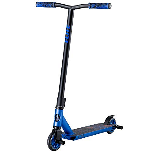 Albott Pro Scooters Trick Scooter  Freestyle 110mm Aluminium Core Wheels amp ABEC9 Stunt Scooters for Kids 8 Years and Up Scooter for Beginner Boys Girls Teens Adults Blue with Stunt Pegs