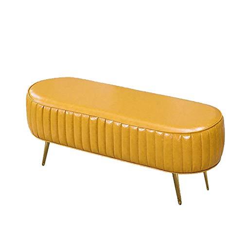Cambiare Scarpa Sgabello Semplice Sofà di svago sgabello Negozio di abbigliamento scarpe Guardaroba Modifica Sgabello Bedroom Letto Fine Sgabello per Ingresso ( Colore : Yellow , Size : 100x45x45cm )