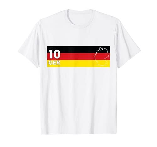 Fussball Deutschland Fussball Outfit Fan T-Shirt