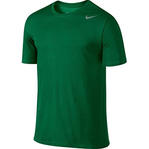 Nike Mens Shirt Short Sleeve Legend (Large, Dark Green)