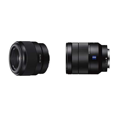 Sony SEL50F18F.SYX - Objetivo Fijo(FE 50 mm, F1.8) + Sony SEL2470Z Vario-Tessar T* - Objetivo con Montura E para Sony/Minolt, Distancia Focal FE 24-70 mm, Apertura F4 ZA OSS