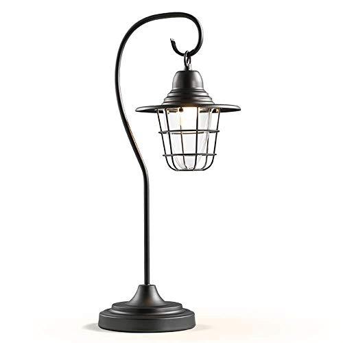 Tafellamp, leeslamp, industriële tafellamp, messing, met zwarte lampenkap