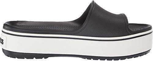 crocs Unisex-Erwachsene Crocband Platform Slide U Dusch- & Badeschuhe, Schwarz (Black/White 066b), 39/40 EU