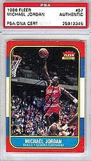 4d5b4e6ac037 Michael Jordan Signed 1986 Fleer Rookie Card  57 Vintage Rookie Era  Signature - PSA
