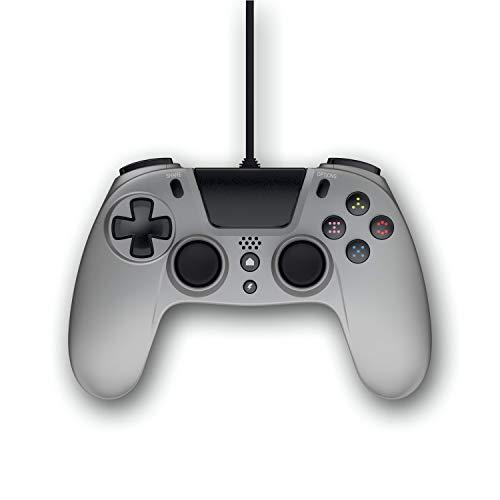 Gioteck - Mando con cable color Titanium Gioteck VX-4 (PlayStation 4)