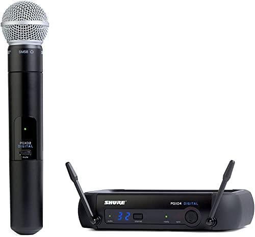 Shure Handheld Wireless Microphone, Black, 12.70 x 4.20 x 17.50 (PGXD24/SM58-X8)