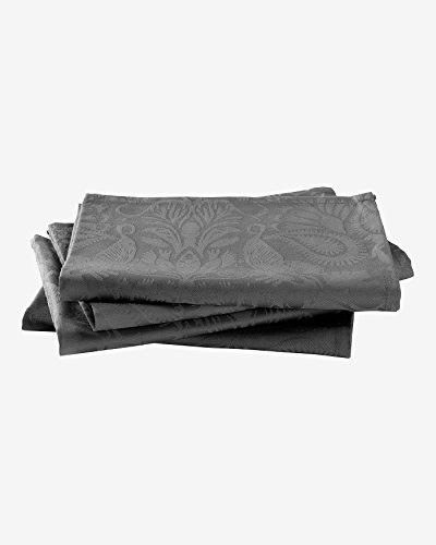 Christian Lacroix - Set di 4 asciugamani 50 x 50 cm, tessuto jacquard in raso damascato, 100% cotone pettinato (220 g/m²)