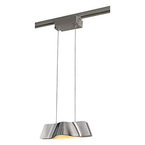 Lampada a sospensione onda a sospensione SLV 1-fasi, 8,6 W, LED COB, 3000 K, 120 LAUREA, con adattatore, in alluminio spazzolato 144006