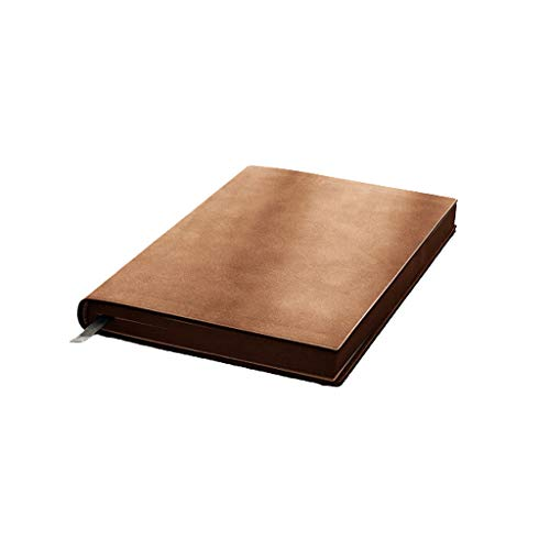 Cuadernos de redacción Cuaderno Cuadernos Papel del Diario De La PU Bloc De Notas Diario De Página En Blanco For Escribir En Diario De La Mujer con Alineado Páginas Papel (Color : Brown)