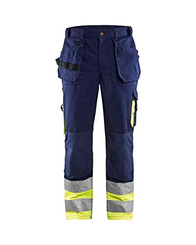 Blakläder Bundhose High Vis Klasse1, 1 Stück, C158, marineblau / gelb, 152918608933C158