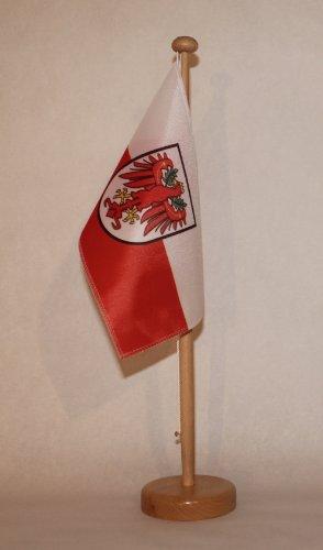 Buddel-Bini Tirol Österreich Tischflagge 15x25 cm in Profiqualität, nur Tischflagge