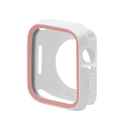 LLMXFC Caso de Cubierta de Reloj para Apple Watch 5/4/3/2/1 40mm 44mm Estilo Silicone Casos Blandos para iWatch Series 5 4 3 2 42mm 38mm (Color : PW, Dial Diameter : 38MM)
