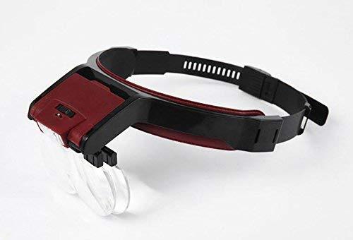 Wxxdlooa LED Kopgemonteerde Vergrootglas Oude Man Lezen 4 Lens Vergrootglas Multi-Functie Vergrootglas