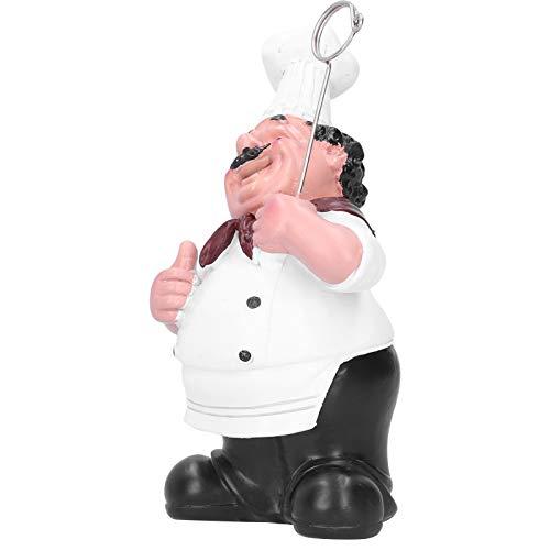 Qqmora Tarjetero con Figuras de Chef, Adornos Tarjetero de Alta Seguridad, Adornos de Resina de Resina sintética para Chef, para decoración de apreciación de cafeterías
