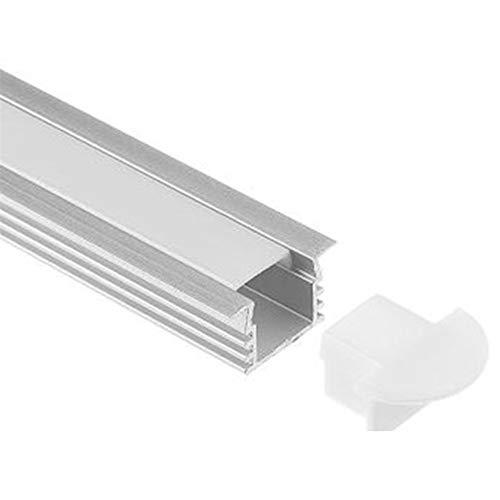 YUANYUAN520 Pantalla de lámpara Ranura 0.5M LED de la Tira Dura luz de la Barra de Ranura con Incrustaciones de Línea de la lámpara de Aluminio Shell 10pcs (Color : 1)